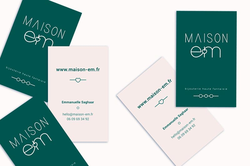 cartes-visites-creation-maison-em-trait-simple