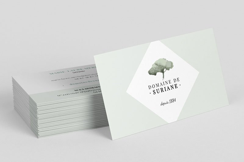 creation-impression-cartes-visites-domaine-suriane-vignoble-traitsimple